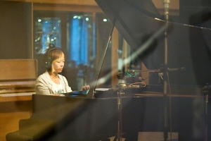 Ruth recording her Xmas album in UK