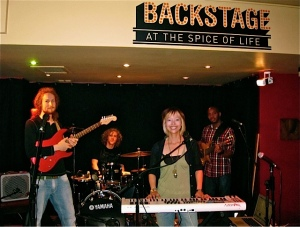 Ruth and her band at a London gig