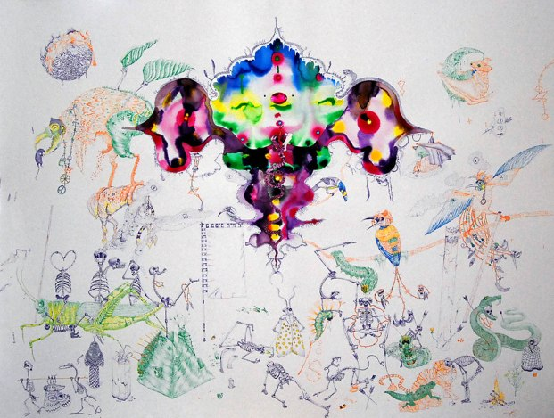 The Very Hungry Caterpillar 2014 Mixed media on paper 105x140cm