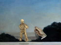Zhang Wenwei, Human Puppet 2013 Oil on wooden board  45cmx60cm